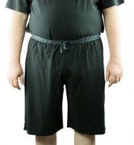 Bas de Pyjama Bermuda 100% Coton Noir All Size