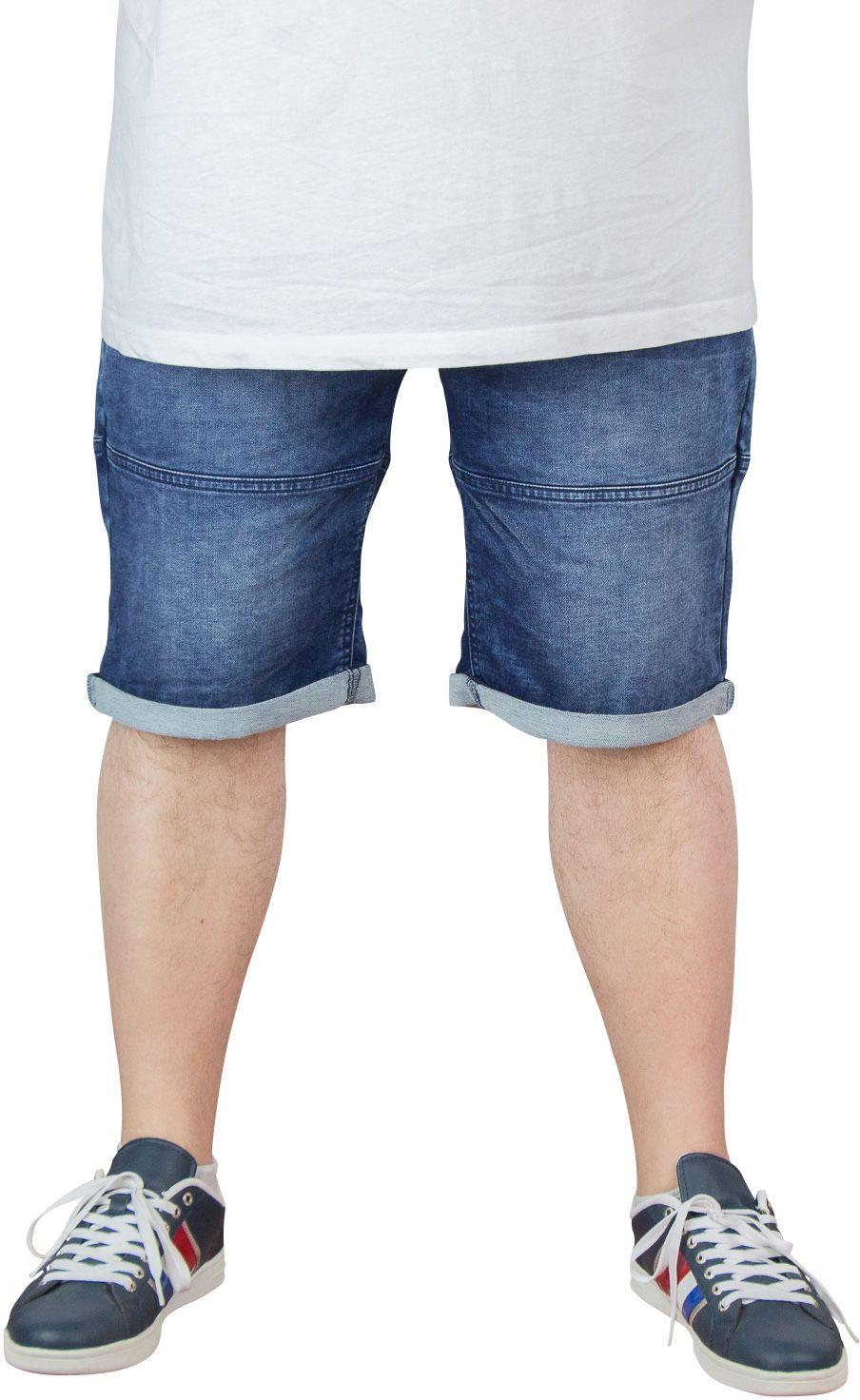 Bemuda Taille Elastiquée Indigo All Size du 2XL au 8XL