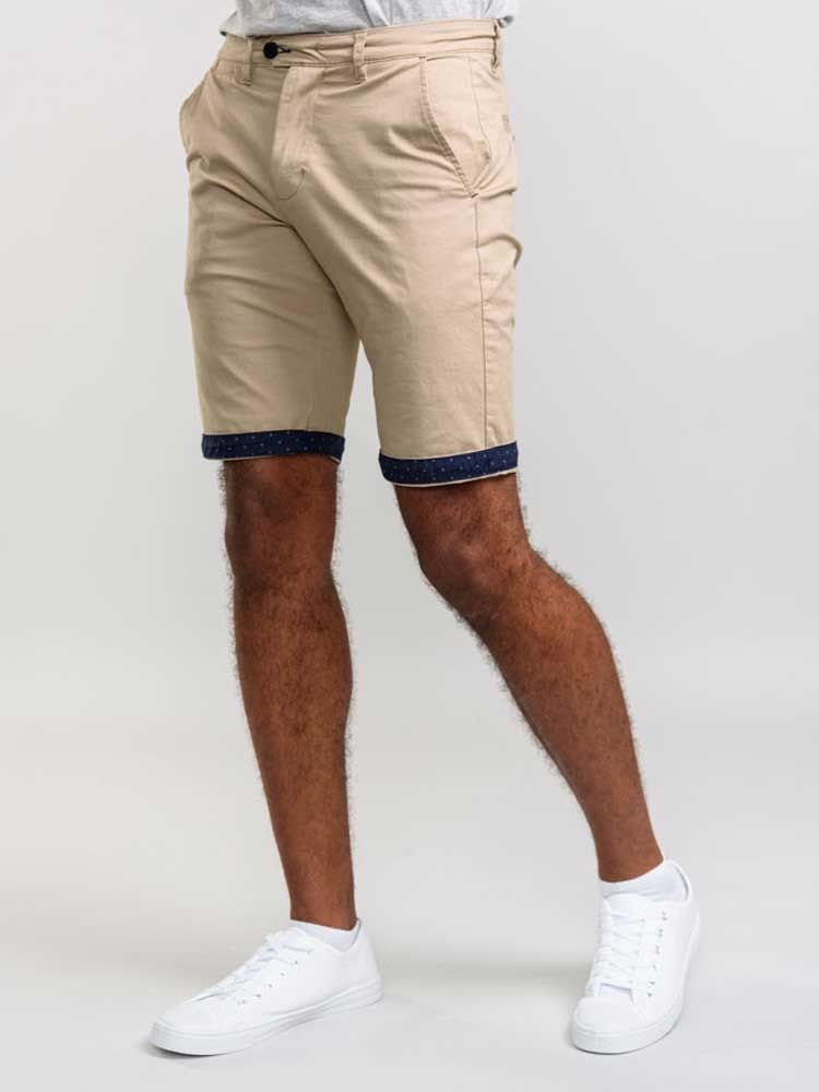 Bermuda Chino Stretch Beige Duke du 42US au 56US