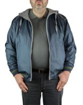 Blouson à Capuche Réversible Grande Taille Bleu Marine Maxfort