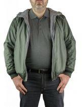 Blouson à Capuche Réversible Grande Taille Vert Maxfort