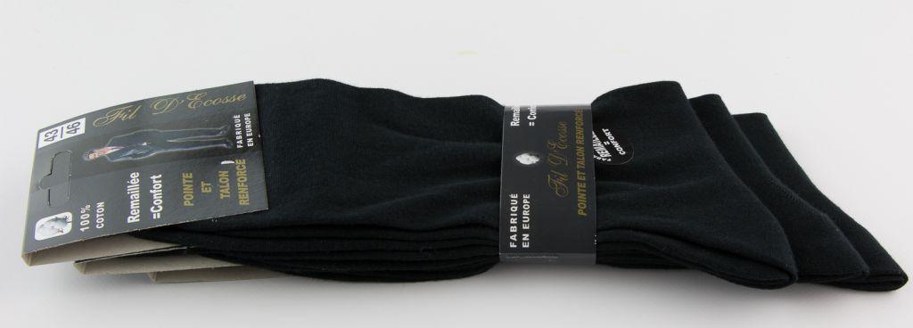 Chaussette Noire 100% Coton