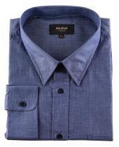Chemise Bleu à Petits Carreaux du 2XL  au 8XL Cotton Valley