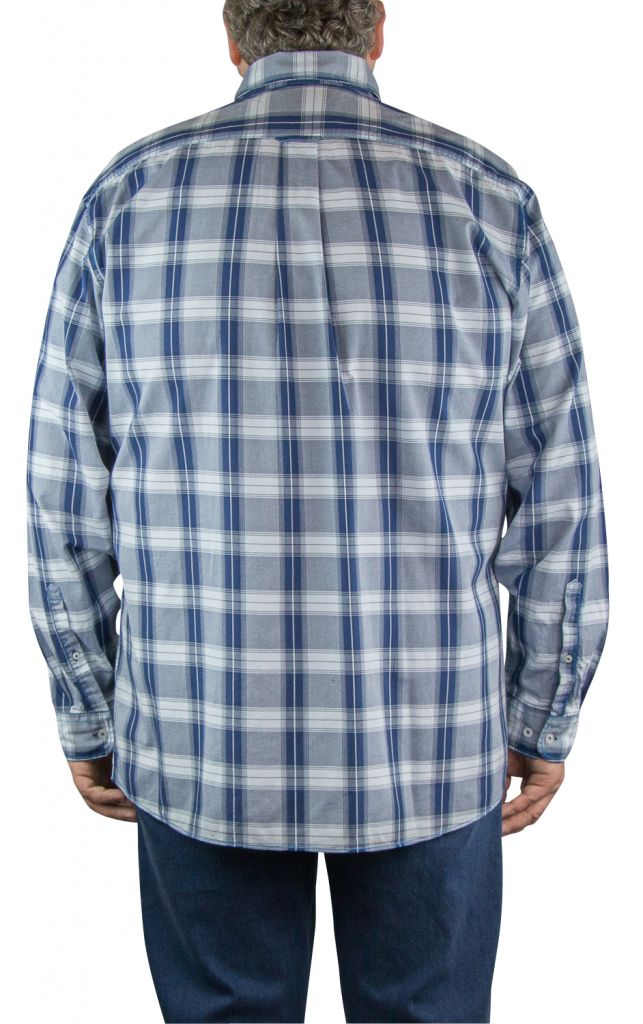 chemise homme grande taille carreaux bleu all size. Black Bedroom Furniture Sets. Home Design Ideas