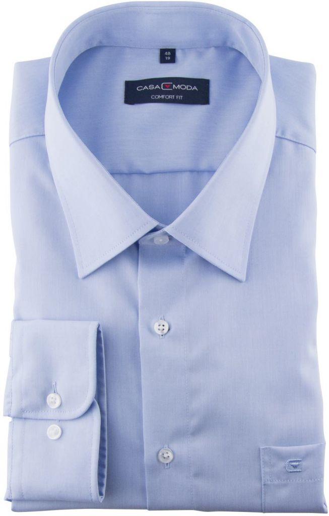 Chemise Manches Longues  Bleue du 2XL au 7XL Casa Moda