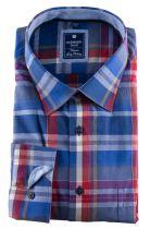 Chemise Manches Longues à Carreaux Bleu du 2XL au 6XL Redmond