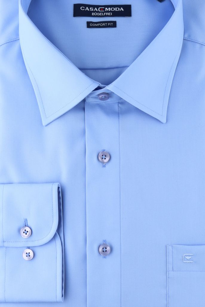 Chemise Manches Longues Bleu Azur Casa Moda