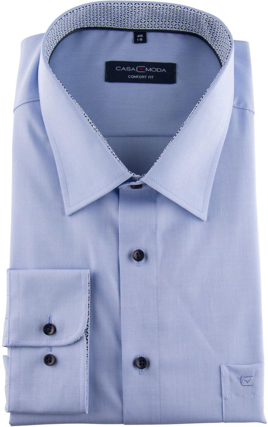 Chemise Manches Longues Bleu Casa Moda du 2XL au 7XL