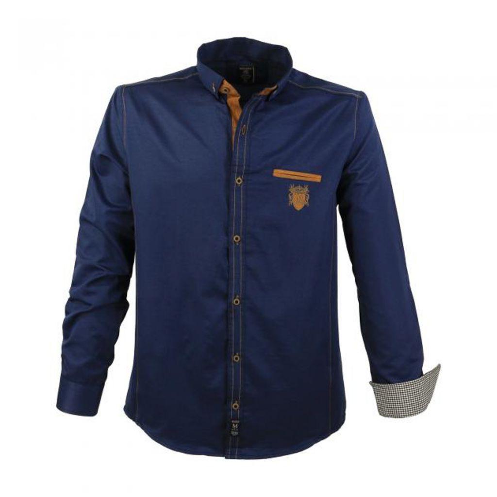 chemise manches longues bleu marine lavecchia du 3xl au 7xl. Black Bedroom Furniture Sets. Home Design Ideas
