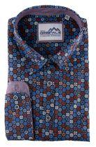Chemise Manches Longues Bleue à Imprimé du 3XL au 6XL GCM