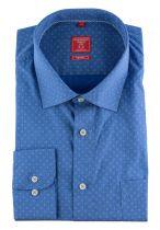 Chemise Manches Longues Bleue à Imprimé Redmond Du 2XL au 6XL