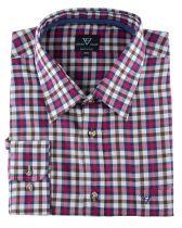 Chemise Manches Longues Rouge à Carreaux du 2XL  au 8XL Cotton Valley