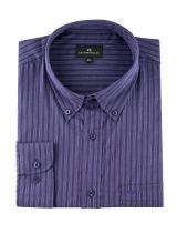 Chemise Manches Longues Violette à Rayures Cotton Valley du 2XL au 8XL