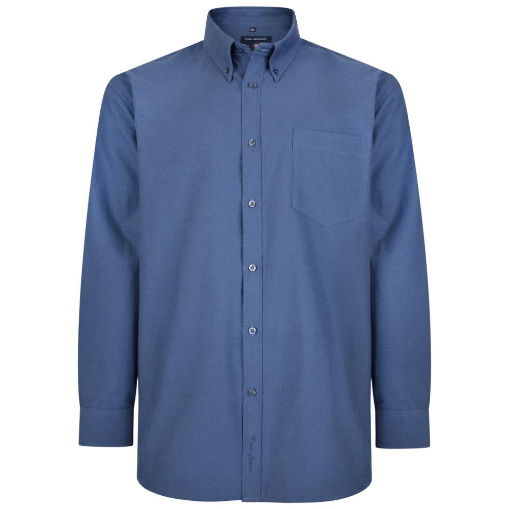 Chemise Oxford Bleu Marine Kam Jeans du 2XL au 6XL