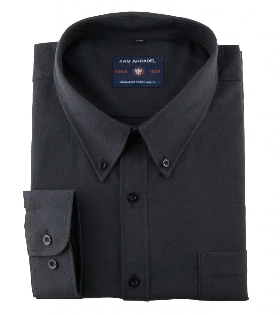 Chemise Oxford Noire Kam Jeans du 2XL au 6XL