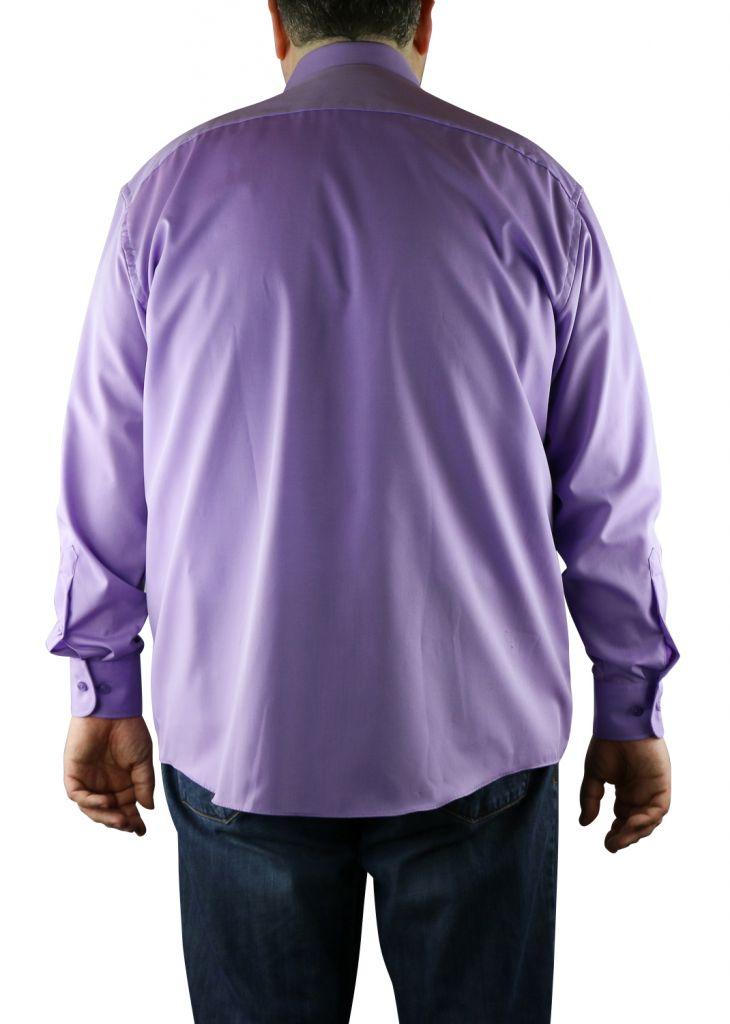 chemise homme grande taille cotton island coloris violet. Black Bedroom Furniture Sets. Home Design Ideas