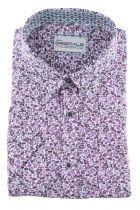 Chemisette à Fleurs Violette GCM du 2XL au 6XL