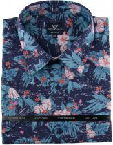 Chemisette Manches Courtes Bleu Marine Cotton Valley du 2XL au 8XL