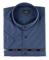 Chemisette Manches Longues Col Mao Bleu Marine  Cotton Valley du 2XL au 8XL