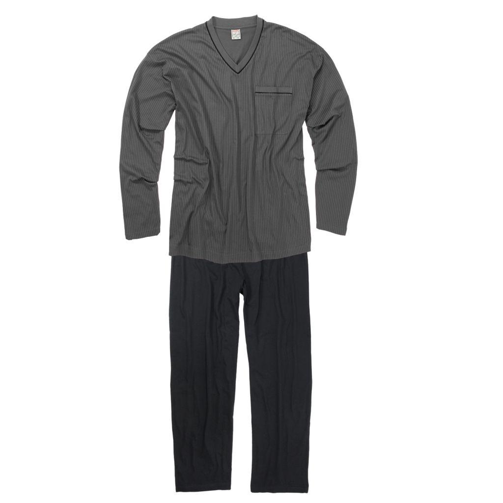 Ensemble Pyjama Long Gris Foncé GUSTAV d\'Adamo