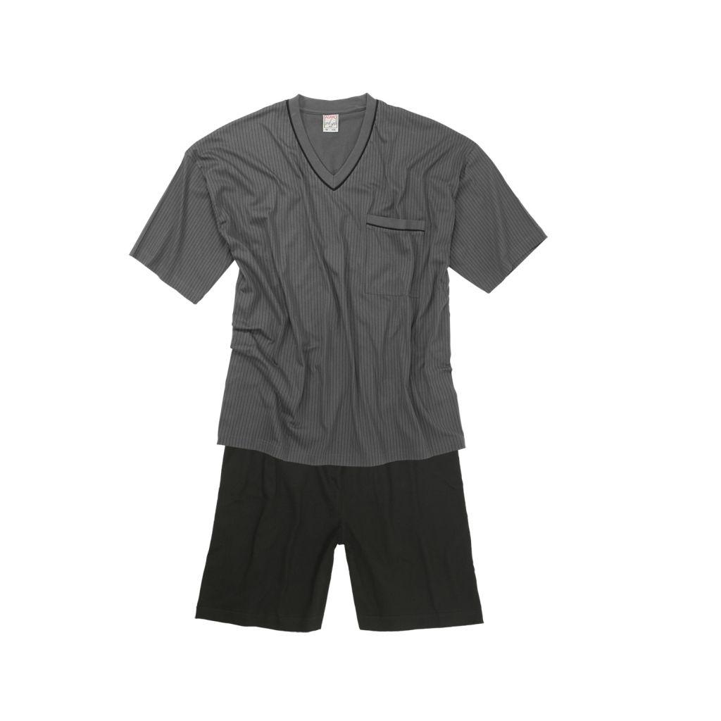 b708164229130 Ensemble Pyjama Short Homme Grande Taille Gris Foncé GUSTAV d'Adamo