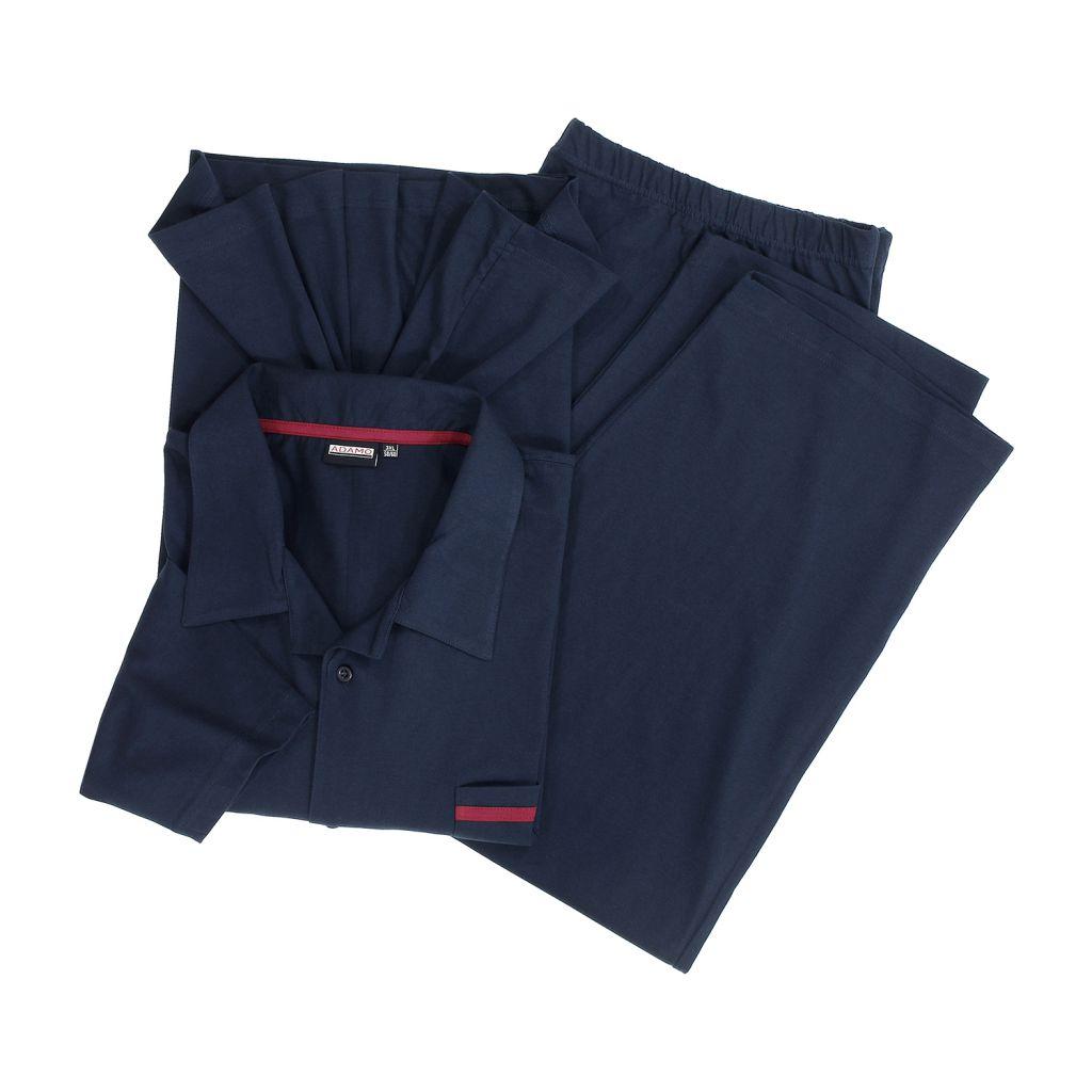 Ensemble Pyjama Veste & Pantalon Bleu Marine du 2XL au 10XL Adamo
