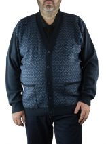 Gilet Bleu Marine du 2XL  au 5XL Cotton Valley
