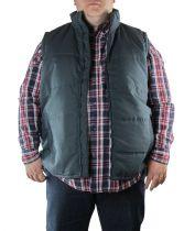 Gilet Matelassé Sans Manches Bleu Marine Kam Jeans du 2XL au 8XL