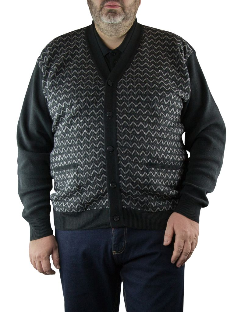Gilet Noir du 2XL  au 5XL Cotton Valley