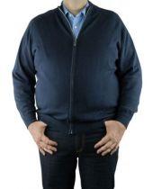 Gilet Ouverture Zip Bleu Marine Casa Moda