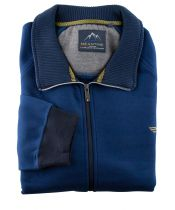 Gilet Zip Bleu du 2XL au 5XL Meantime