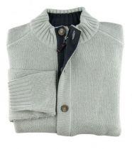 P1-Monte Carlo 14489-61 Gilet bouton et zip gris clair-1578