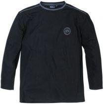 Haut de Pyjama Col Rond Coton Noir All Size