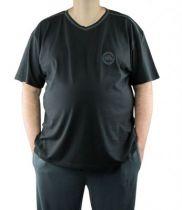 Haut de Pyjama Col V 100% Coton Noir All Size