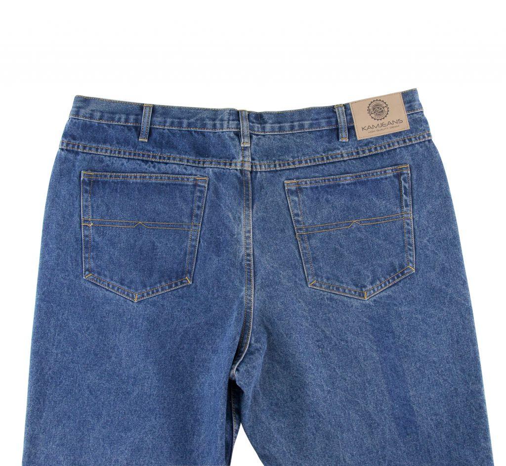 Jean Taille Haute Bleu Stonewash du 56US au 70US Kam