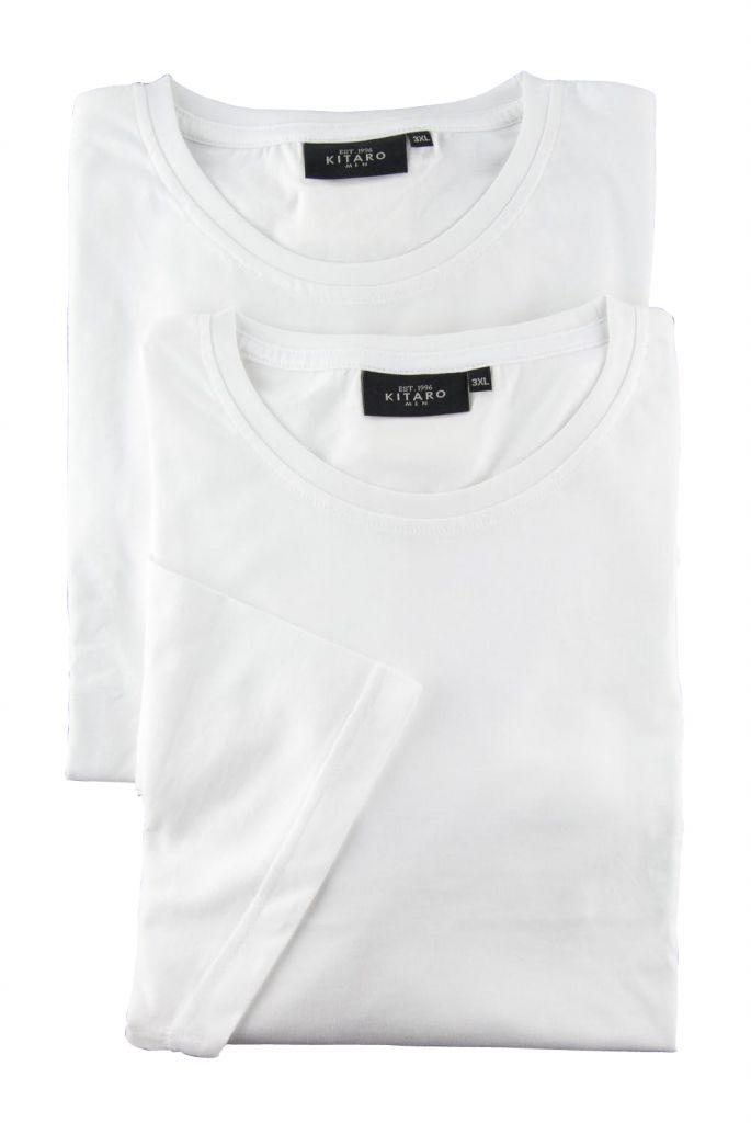 Lot de deux T-Shirt Blanc Manches Courtes Col Rond Kitaro