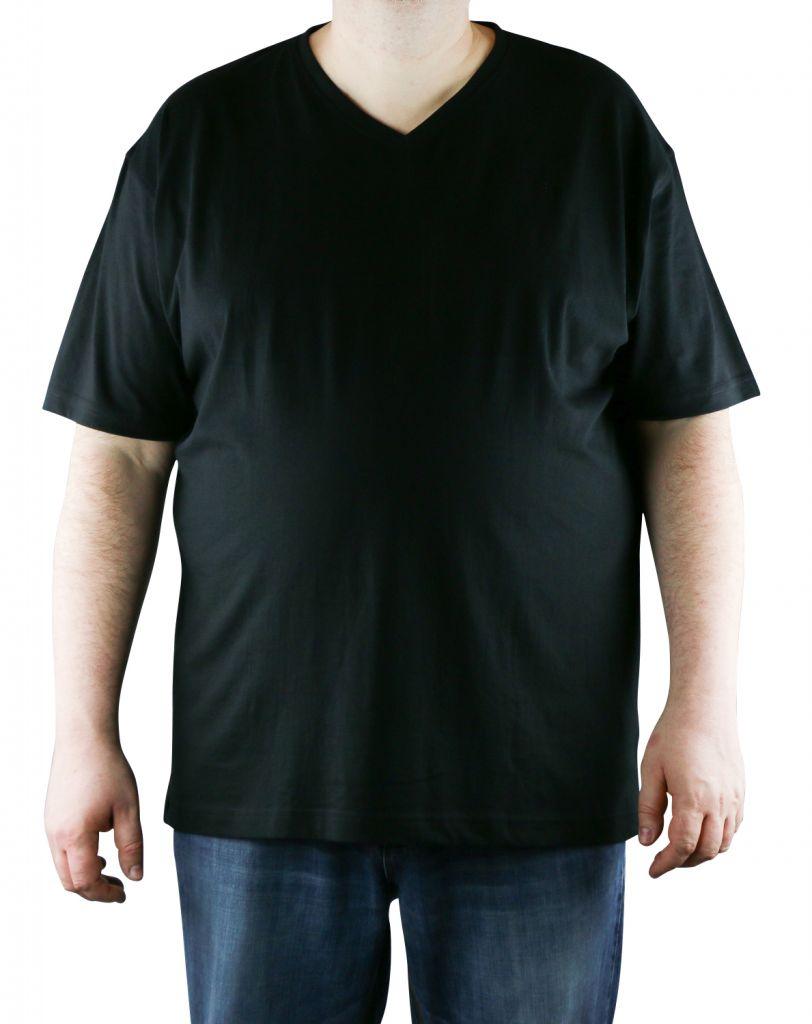 Lot de deux T-Shirt Noir Manches Courtes Col V Kitaro