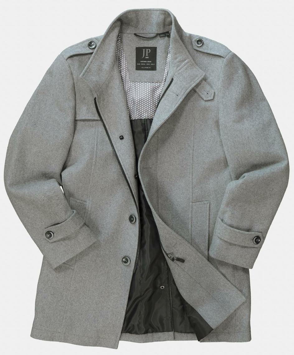 Manteau en Laine Gris JP1880 du 3XL au 7XL
