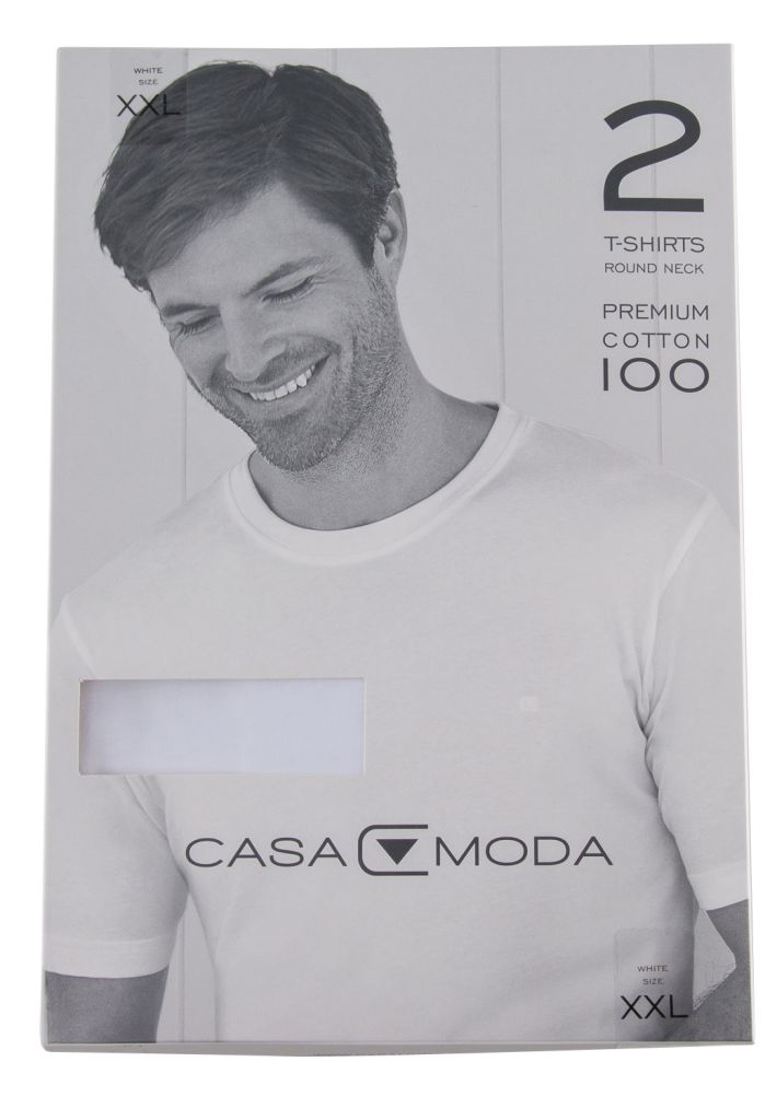 Pack 2 T-Shirts Col Rond Blanc Casa Moda