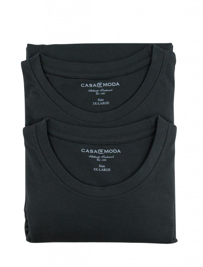 Pack 2 T-Shirts Col Rond Noir Casa Moda