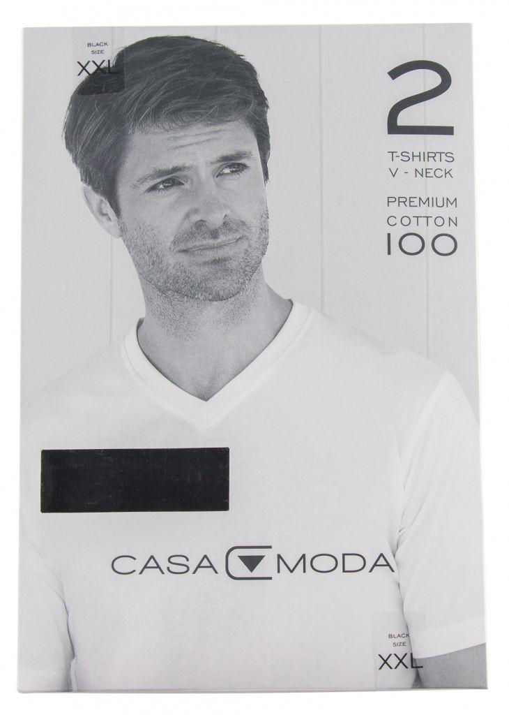 Pack 2 T-Shirts Col V Noir Casa Moda