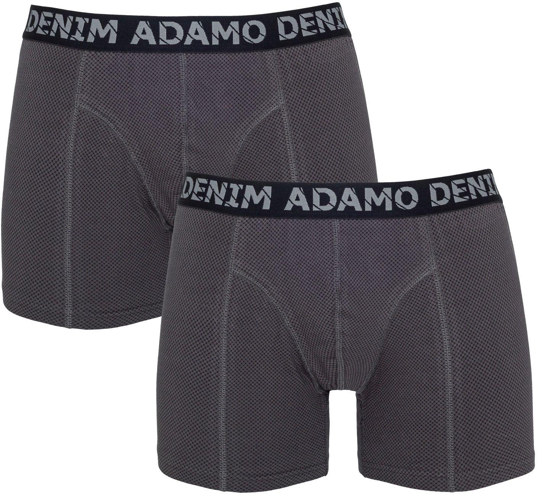 Pack de 2 Boxers Stretch Gris Adamo du 2XL au 8XL