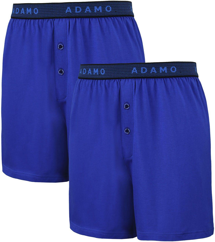 Pack de 2 Caleçons Stretch Bleu Adamo du 2XL au 8XL
