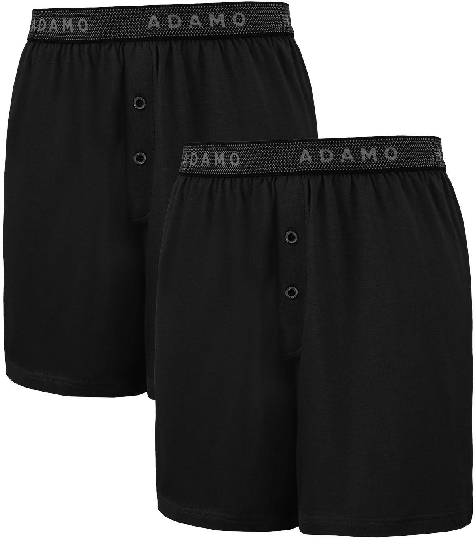 Pack de 2 Caleçons Stretch Noir Adamo du 2XL au 8XL