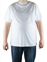 Pack de 2 T-Shirt Blanc Manches Courtes Col Rond 100% Cotton All Size