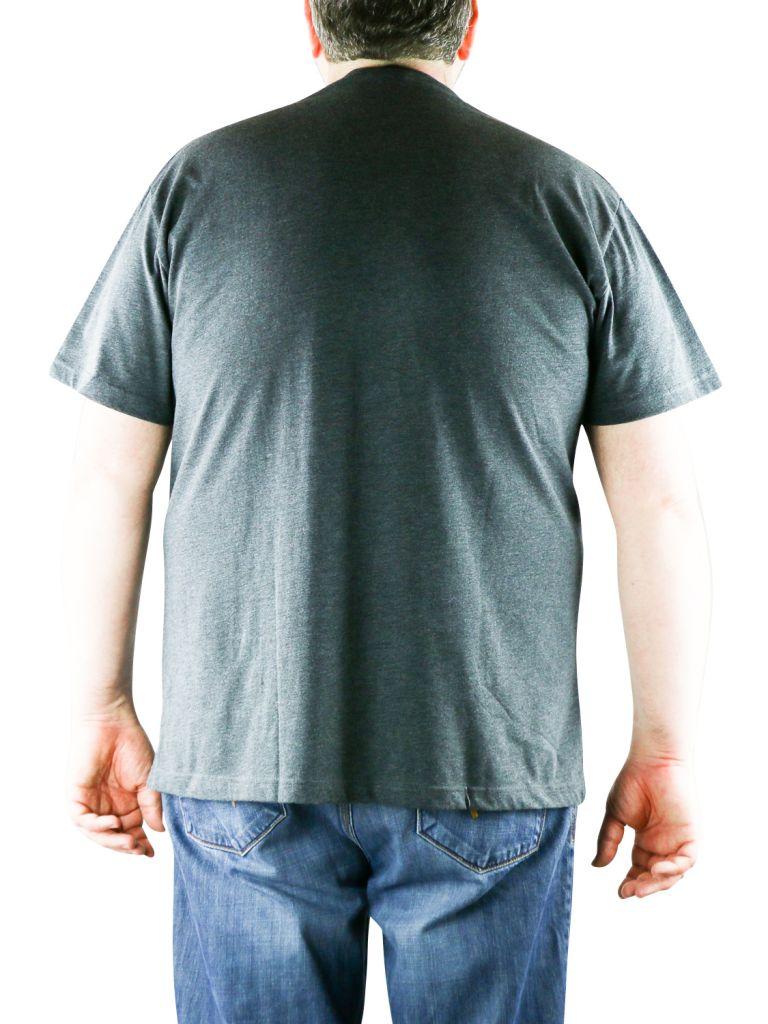 Pack de 2 T-Shirt Gris Foncé Manches Courtes Col Rond 100% Cotton All Size