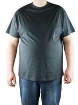 Pack de 2 T-Shirt Gris Foncé Manches Courtes Col Rond Coton All Size