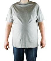 Pack de 2 T-Shirt Gris Manches Courtes Col Rond Cotton All Size