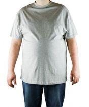 Pack de 2 T-Shirt Gris Manches Courtes Col Rond Cotton All Size