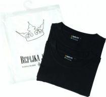 Pack de 2 T-Shirt Noir Manches Courtes Col Rond Coton All Size